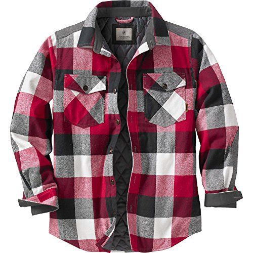 Legendary Whitetails Men's Woodsman Quilted Shirt Jacket Flint Plaid X-Large