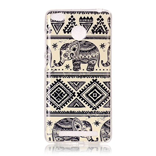 Qiaogle Teléfono Caso - Funda de TPU silicona Carcasa Case Cover para Lenovo Vibe C2 / C2 Power (5.0 Pulgadas) - YH16 / Never Stop Dreaming YH17 / elefante