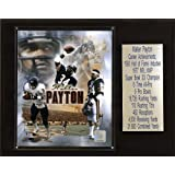 NFL Walter Payton Chicago Bears Career Stat Plaque