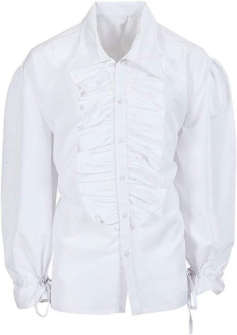 Horror-Shop Camisa blanca con volantes con los botones M/L: Amazon.es: Juguetes y juegos