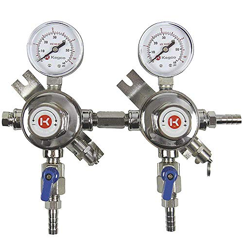 Kegco LH-54S-2 Pro Series Two Product Secondary Regulator, Chrome ()
