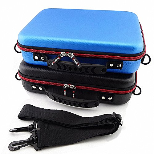 GUANHE 3.5 Inch Multifunction Big Capability Organizer For U Disk USB Flash Drive Data Cable Power Bank Waterproof Universal Carrying Travel Case For Electronics Accessories In Black by GUANHE (Image #3)