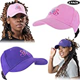 Beautifully Warm Satin Lined Baseball Hat for Women | Ponytail Hat for Curly, Thick, Natural Hair (PurplePink)