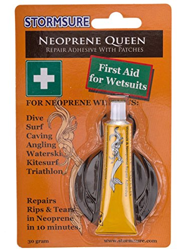 Stormsure Neoprene Queen Glue Quick fix 1st aid for Wetsuits - Glue + Neoprene Patches ()