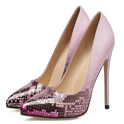 fino Tacones Rosado azul las GAOLIXIA Nuevo tacones de verano la poco zapatos moda gradiente con primavera de rosa altos y acentuado altos profundos mujeres aarqg