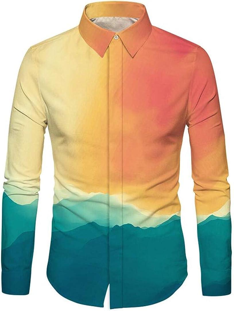HURVXDWAQ Camisa Estampada en la Nube para Hombre, Hipster, Vestido, Camisa 3D Social: Amazon.es: Ropa y accesorios