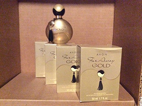 4 x AVON Far Away Gold Eau de Parfum 50ml - 1.7fl.oz. SET ! (Far Away Perfume Set)