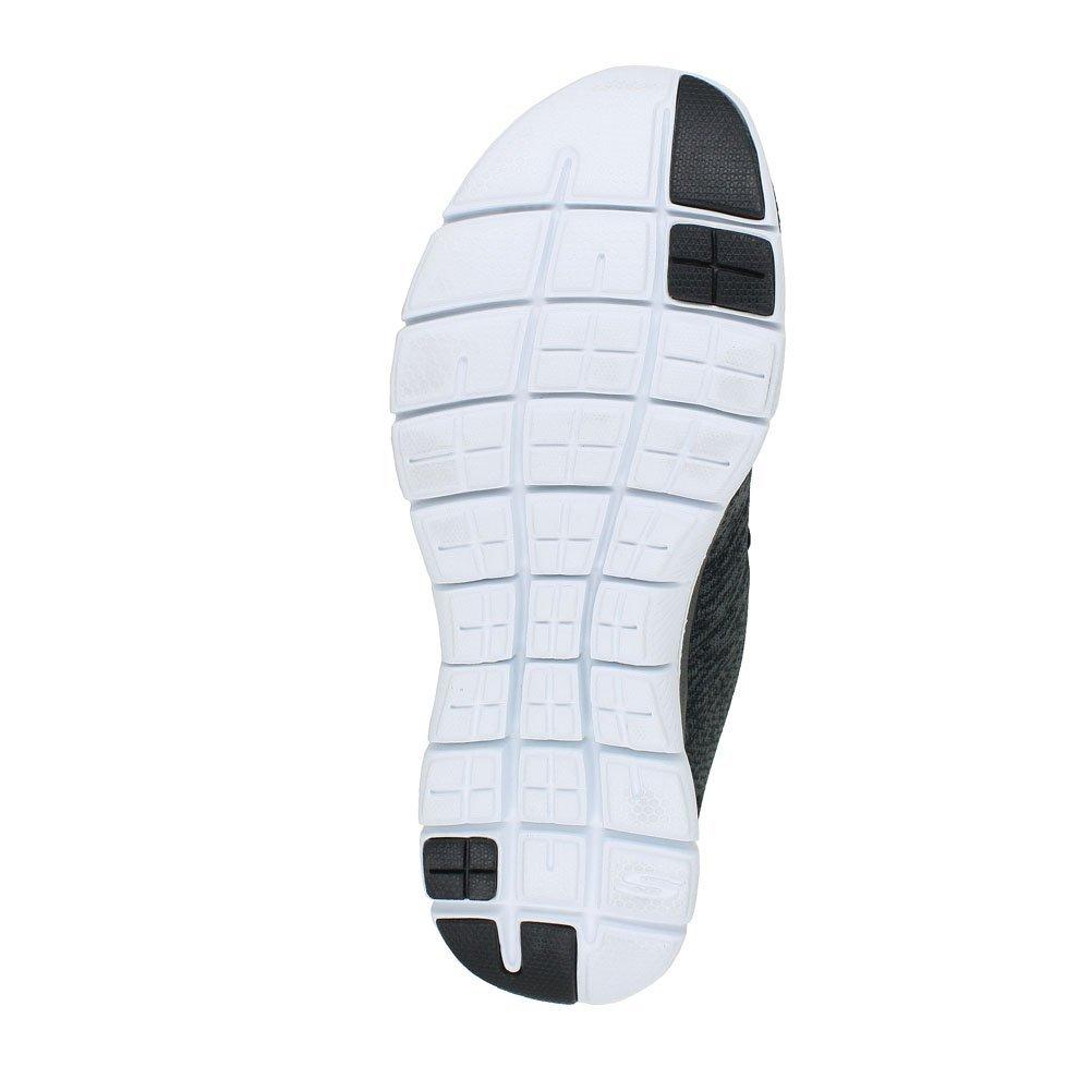 Skechers Damen mit Flex Appeal 2.0-Break Free Outdoor Running Trainers mit Damen Schnürung und Gepolsterter Einlegesohle aus Air Cooled Memory Foam Schwarz (schwarz/Weiß) ef3876