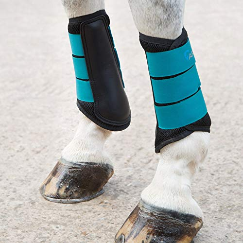 Shires Air Motion Brushing Boots Sm Pony Teal