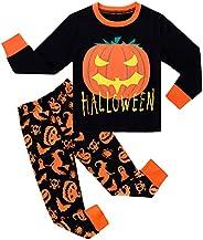 MOMBEBE COSLAND Kids Halloween Pajamas Boys Long Sleeve Pjs
