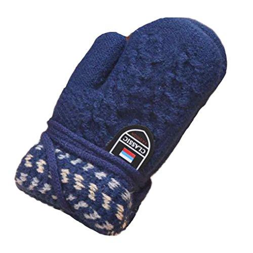 Staron Toddler Baby Gloves Mittens with String Kids Winter Warm Thicken Hot Gloves
