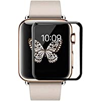 RKINC forApple Watch 44mmScreen Protector, [1 Pack] Full Coverage Tempered Glass Clear Screen Protector [9H Hardness][3D Round Edge][0.33mm Thickness] for Apple Watch 44mm, Black