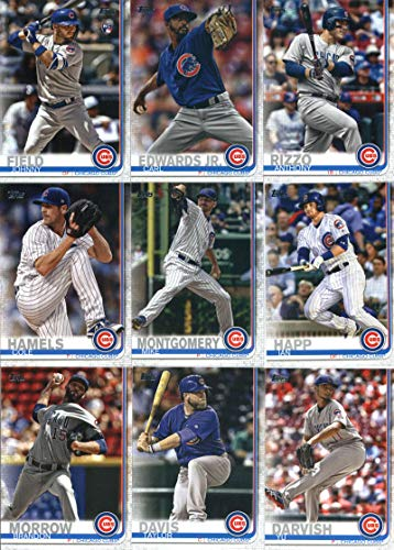 2019 Topps Series 2 Baseball Chicago Cubs Team Set of 14 Cards: Taylor Davis(#361), Yu Darvish(#372), Victor Caratini(#389), Brandon Morrow(#469), Mike Montgomery(#502), Ian Happ(#530), Cole Hamels(#540), Carl Edwards Jr.(#569), Anthony Rizzo(#596), Johnny Field(#606), Addison Russell(#633), Steve Cishek(#645), Jason Heyward(#646), Javier Baez/Wilson Contreras(#698)