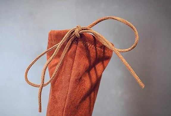 b626429fd QinMM 4-13 años Niñas Sólidas sobre la Rodilla rebaño Botas cálidas Zapatos  de Invierno  Amazon.es  Zapatos y complementos