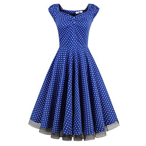 Ladiamonddiva Dresses Women Summer Retro Vintage Dress Big Swing Party Robe 50S Dress Plus Size Cotton Feminine 3As The Picture (Dillards Robes)