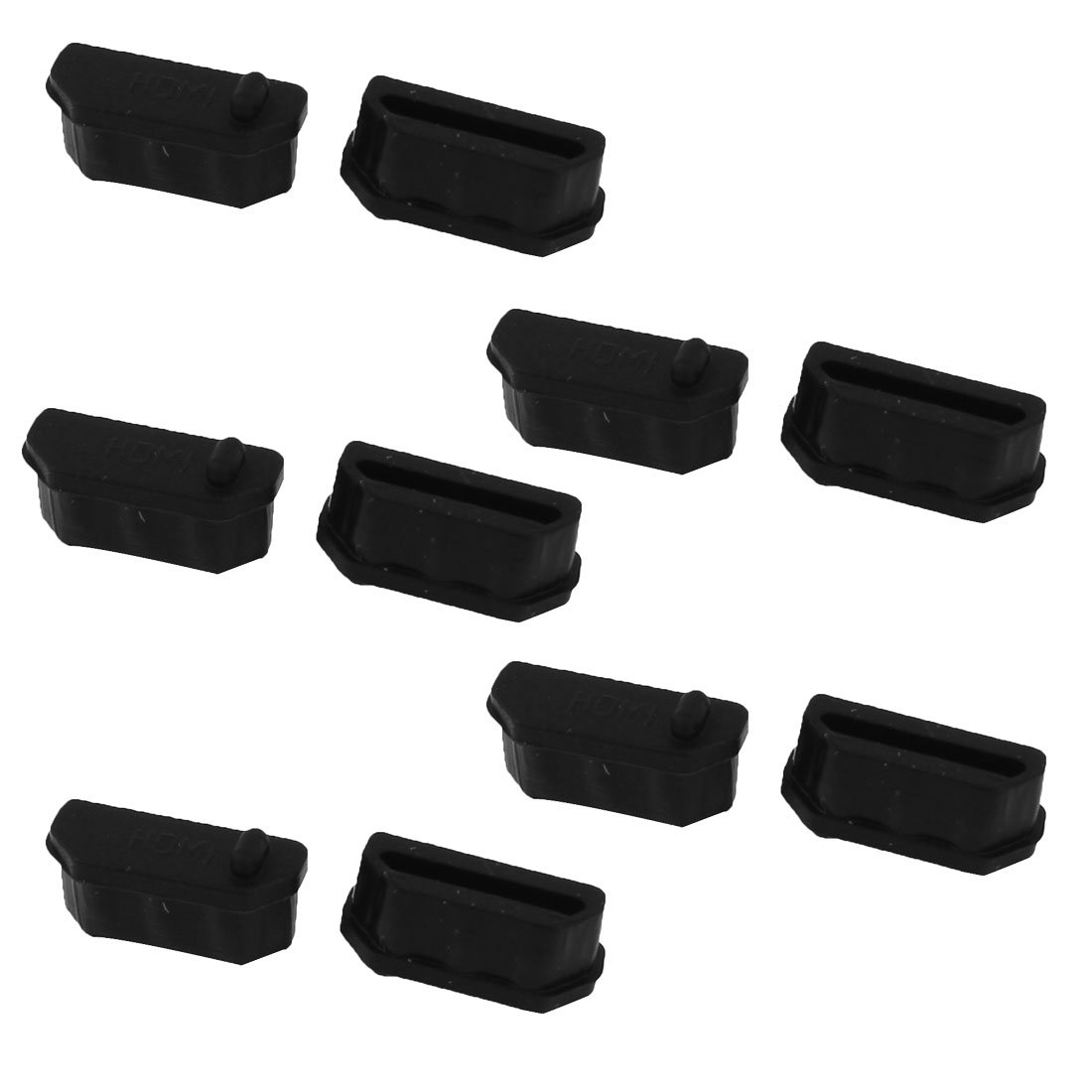 uxcell Silicone Computer Anti Dust Cover Cap Protector Black 10 Pcs for HDMI Female Port