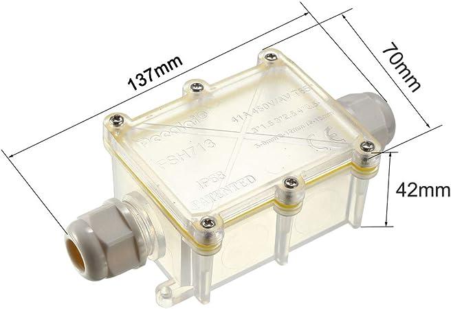 Draussen Elektrisch 2Wege M10x1,5 Kabelverschraubung Elektrisch Anschlussdose