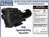 Pooline Products 12742 Inground Self Priming Pump, 0.75 HP