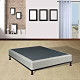 Mattress Solution, 440yy-4/6-3 8 Fully Assembled Box Spring/Foundation for Mattress, Full Size, White/Gold