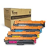 V4INK Replacement for Brother TN225 Brother TN221 Toner Cartridge for use with Brother Printer HL3170CDW Brother MFC9330CDW Brother HL3140CW Brother HL3180CDW MFC9130CW MFC9340CDW Printer, 4 Pack