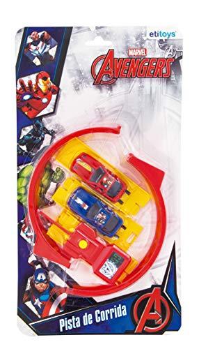 Carro com Lançador Avengers etitoys Vermelho/Amarelo/Azul