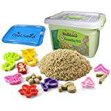 CoolSand Deluxe Bucket Kinetic Play Sand With Inflatable Sandbox – Learning Set Edition