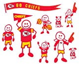 Siskiyou NFL Kansas City Chiefs Large Family Decal Set