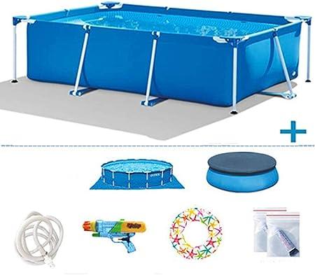 TYP Mall Infantil Deluxe Splash Frame Pool Piscina Desmontable Tubular Capacidad 3834L Buena Tenacidad Protector Solar Y A Prueba De Fugas para Patio Jardín Playa,Azul,300x200x75cm: Amazon.es: Hogar