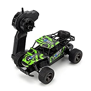 STOTOY Remote Control Car,1/18 Scale 4WD RC Car Electric Racing Car Off Road RC Monster Truck RTR Desert Buggy Vehicle 2.4Ghz High Speed with Rechargeable Batteries -Green