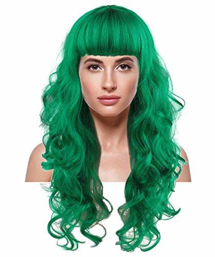Female Joker Curly Wig, Green Adult HW-169