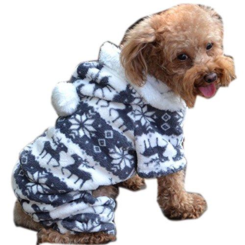 haoricu Puggy Clothes, autumn Stylish Pet Dog Warm Clothes Puppy Jumpsuit Hoodie Coat Doggy Apparel Hoodies Costume Apparel (XXL (XXL, Gray) ()