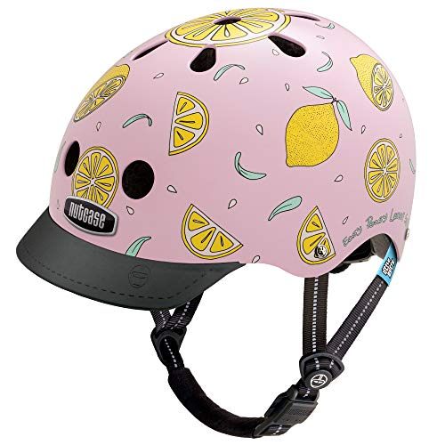 Nutcase - Patterned Street Bike Helmet for Adults, Pink Lemonade, Small