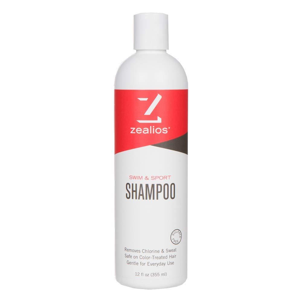Zealios Sulfate-Free Swim & Sport Shampoo 12 oz – Vegan, Gluten, Cruelty-Free & Safe For Treated Hair