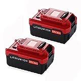 20v Max 4.0Ah Battery for Porter Cable Lithium Ion Impact Driver Drill PCC685L PCC680L PCC682L PCC685LP Fhybat (2packs)