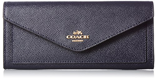 COACH Women's Soft Wallet In Crossgrain Leather Li/Navy Wallets by Coach