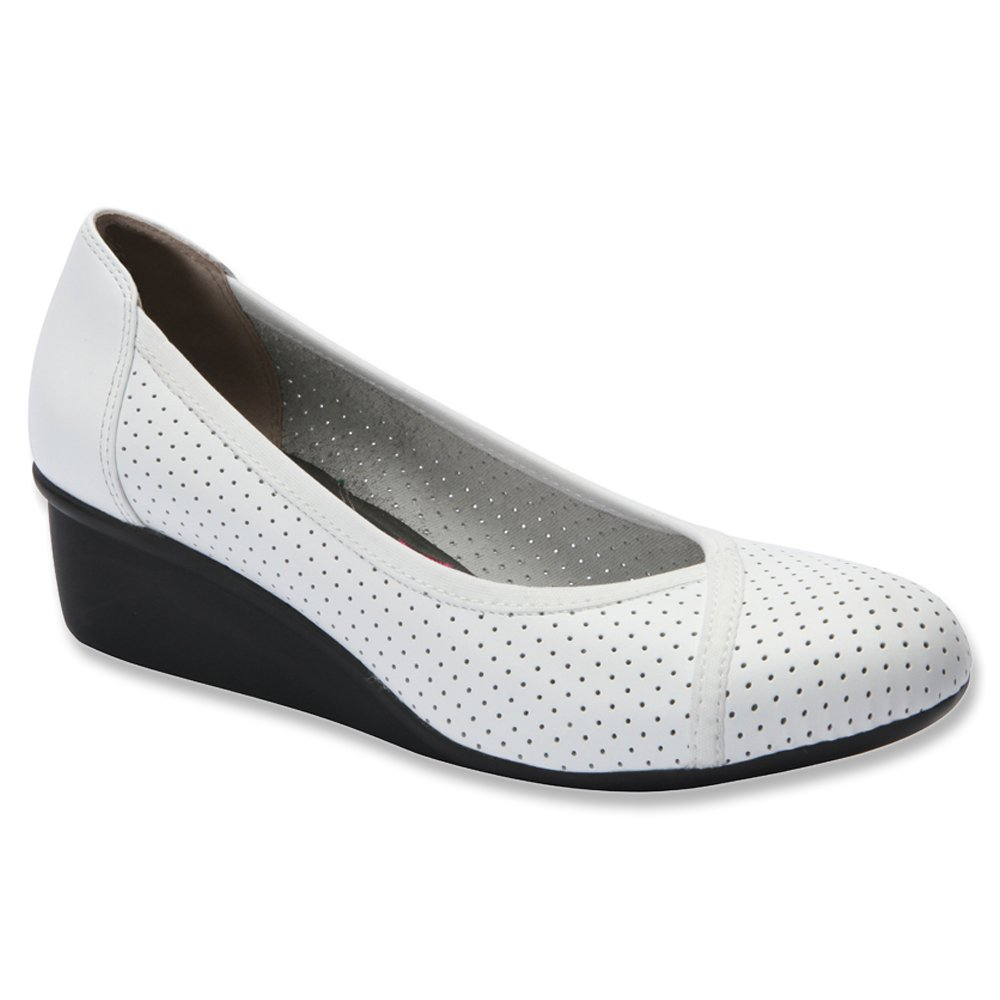 Ros Hommerson Women's Evelyn Lightweight Casual Flats B00TOTYG3A 8.5 SS|White