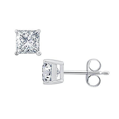 04f39cec6 Amazon.com: RUDRAFASHION 2.00 CT Princess Cut Diamond (4MM ...