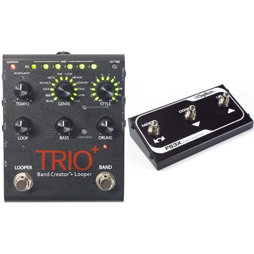 Digitech TRIOPLUS Band Creator and Looper with FS3X Three-Function Foot Switch