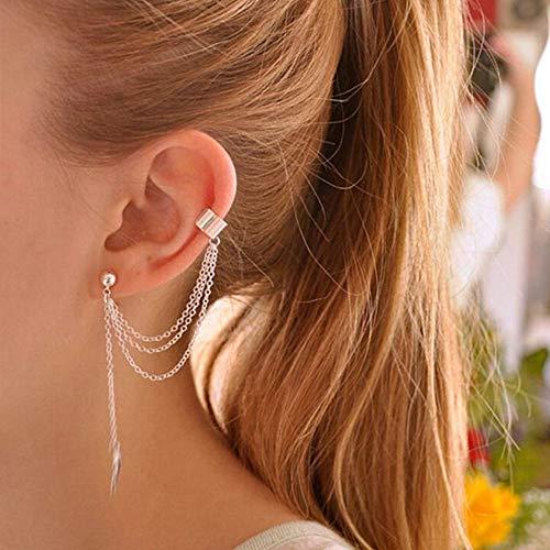 Earrings,Onefa Women Earrings Jewelry Leaf Pendants Pearl Long Chain Fancy Punk Rock Style Bohemian Earrings Valentine's Day Gift