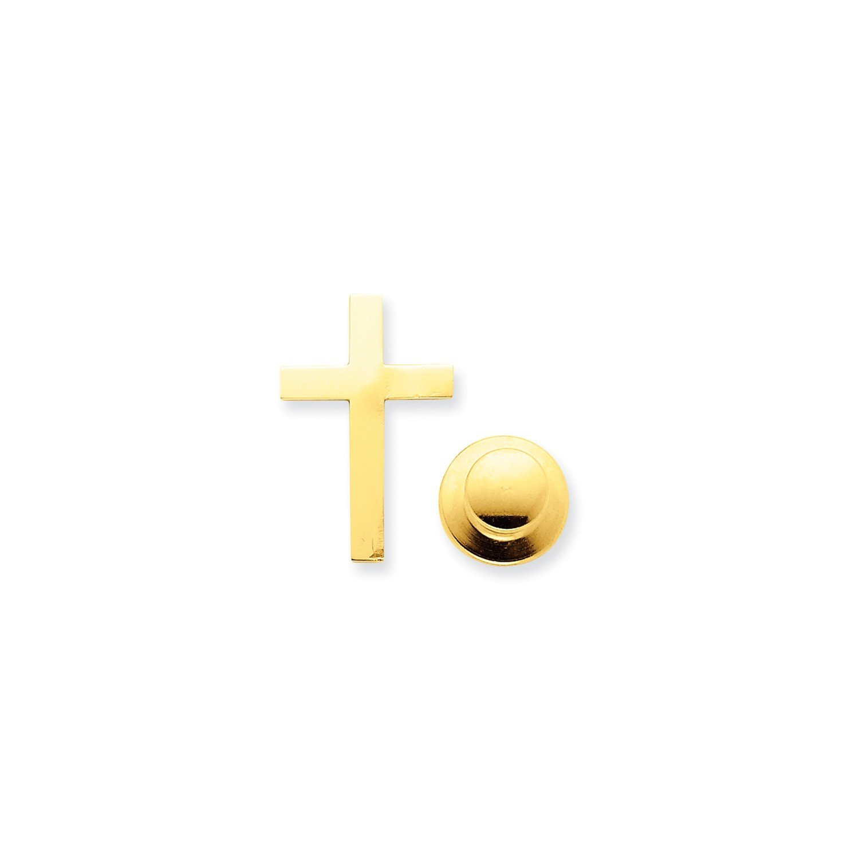 Roy Rose Jewelry 14K Yellow Gold Cross Tie Tac
