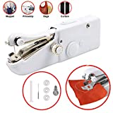 Handheld Sewing Machine Portable Stitching Machine FineWish Cordless Sewing Machine Mini Stitch Craft Machine DIY Home Travel for Fabric Clothing Kids Cloth Pet Clothes (Battery Not Included)