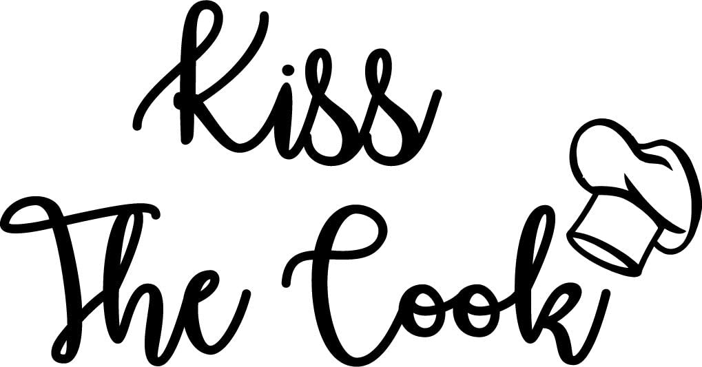 Kitchen Wall Sticker Kiss The Cook Quote Kitchen Wall Decor Wall Mural Lettering Home Decor Kitchen Quote Decal Vinyl Wall Sticker
