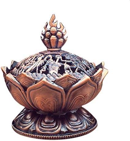 Bonni 聖チベットロータスデザイン香炉亜鉛合金ブロンズミニ香炉香炉金属工芸家の装飾