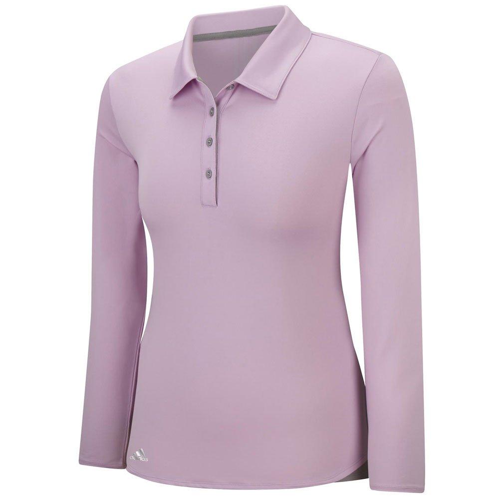 adidas Golf Womens Essentials 3-Strip UPF 50+ Long Sleeve Polo ...