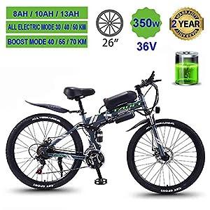 51Yqv744ciL. SS300 Hyuhome Mountain Bike Elettrico per Adulti, Pieghevole MTB Ebikes Uomo delle Signore delle Donne, 360W 36V 8/10 / 13Ah…