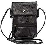Hynice Cell Phone Purse Phone Bag Cellphone pouch Crossbody cell phone bag with Strap for Iphone6, Samsung Galaxy S6,LG G4,HTC One M9 and Other Mobile Phone under 6.3inch (black)