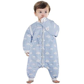 Lictin Baby Sleeping Bag Sleep Sack Split Leg With Removable Sleeves Blue Sky And White