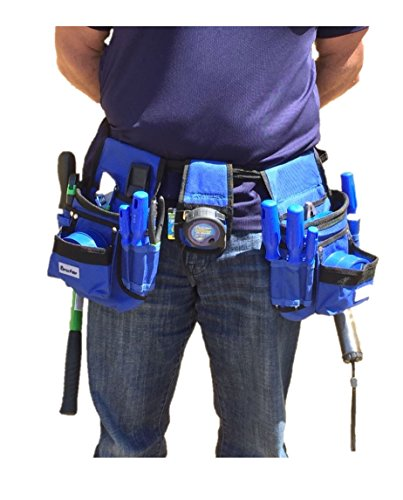 BRUFER 210412 Multi-tool Pouch Belt Tool Holder Organizer for Tools with 26 Pockets, 2 Hammer Loops and 1 Measuring Tape Holder by BRUFER Quality Products (Image #1)