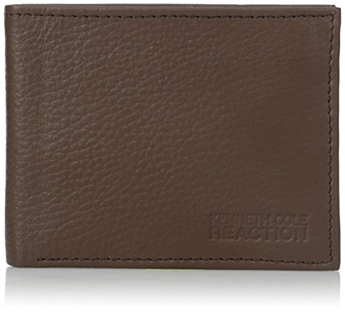 Kenneth Cole REACTION Men's Broad Street Traveler Wallet, Brown, One Size