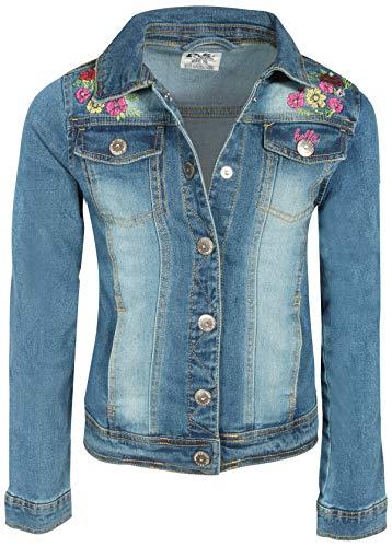 p.s. from aeropostale Girls Soft Denim Fashion Jackets, Medium Wash Floral, Size 10'